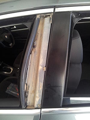 Diy Jetta B Pillar Trim Vinyl Wrapping