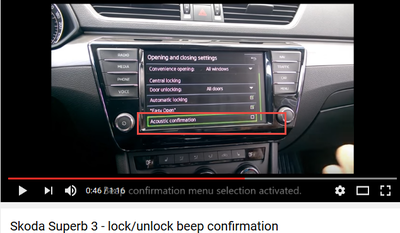 LOST unlock and lock beep/chirp acoustic confirmation