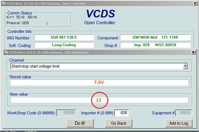 Disable Stop/start - VCDS tweak