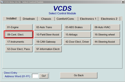VCDS (VAG-COM) codes and programmable options for Golf Mk7