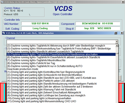 Vcds Vag Com Codes And Programmable Options For Golf Mk7