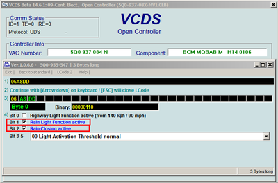VCDS (VAG-COM) codes and programmable options for Golf Mk7 - Page 111