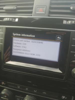 Mk7 Headunit Screen