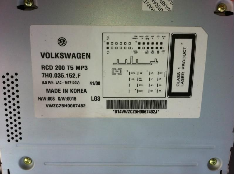 t5 my09 rcd200 pictures can bus rh vwwatercooled com au Consumer Unit Distribution Board